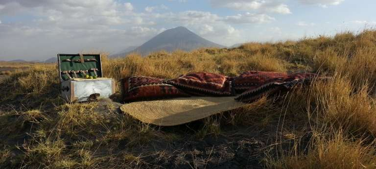 Outdoor Lounge at Lake Natron Camp, Tanzania