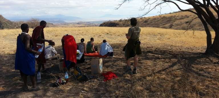 Lake Natron Camp Guests, Tanzania