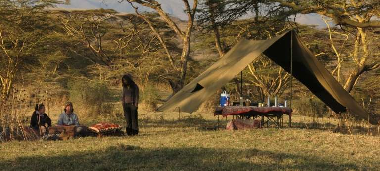 Lake Natron Camp Outdoor Dining in Lake Natron, Tanzania