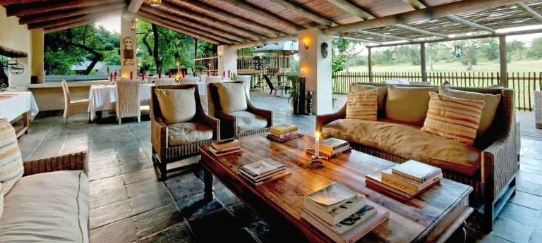 The lounge area at Notten's Bush Camp,  South Africa