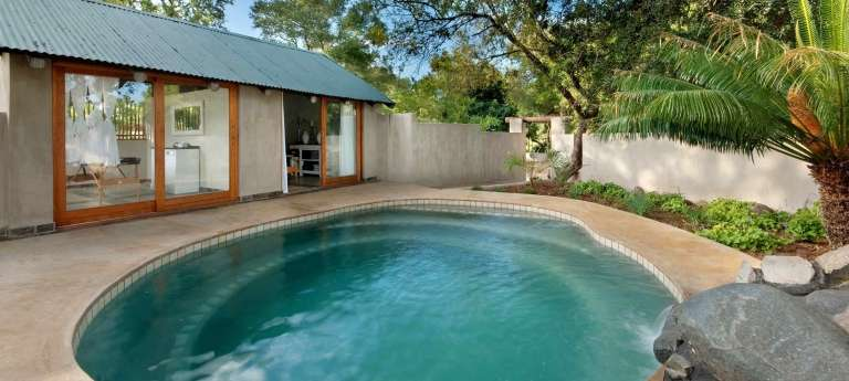 The poolside at Notten's Bush Camp, South Africa