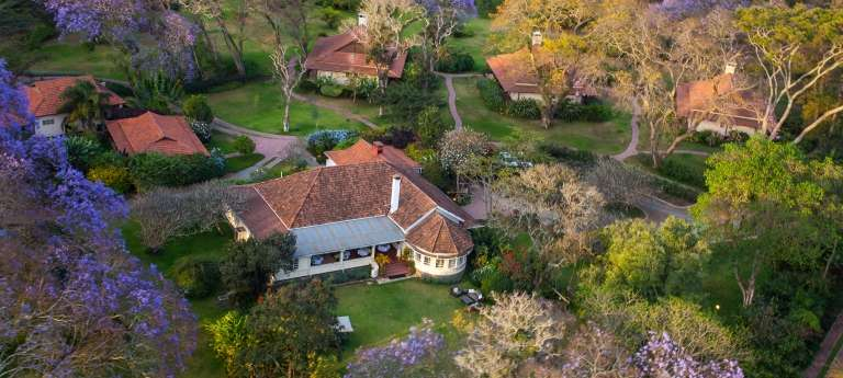 Aerial view of the Legendary Lodge in Tanzania