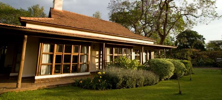 The outside view of the Legendary Lodge in Tanzania