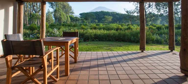 The patio area of the Legendary Lodge in Arusha