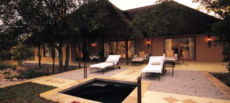 Villa Mushara Outside Lounge in Etosha National Park, Namibia