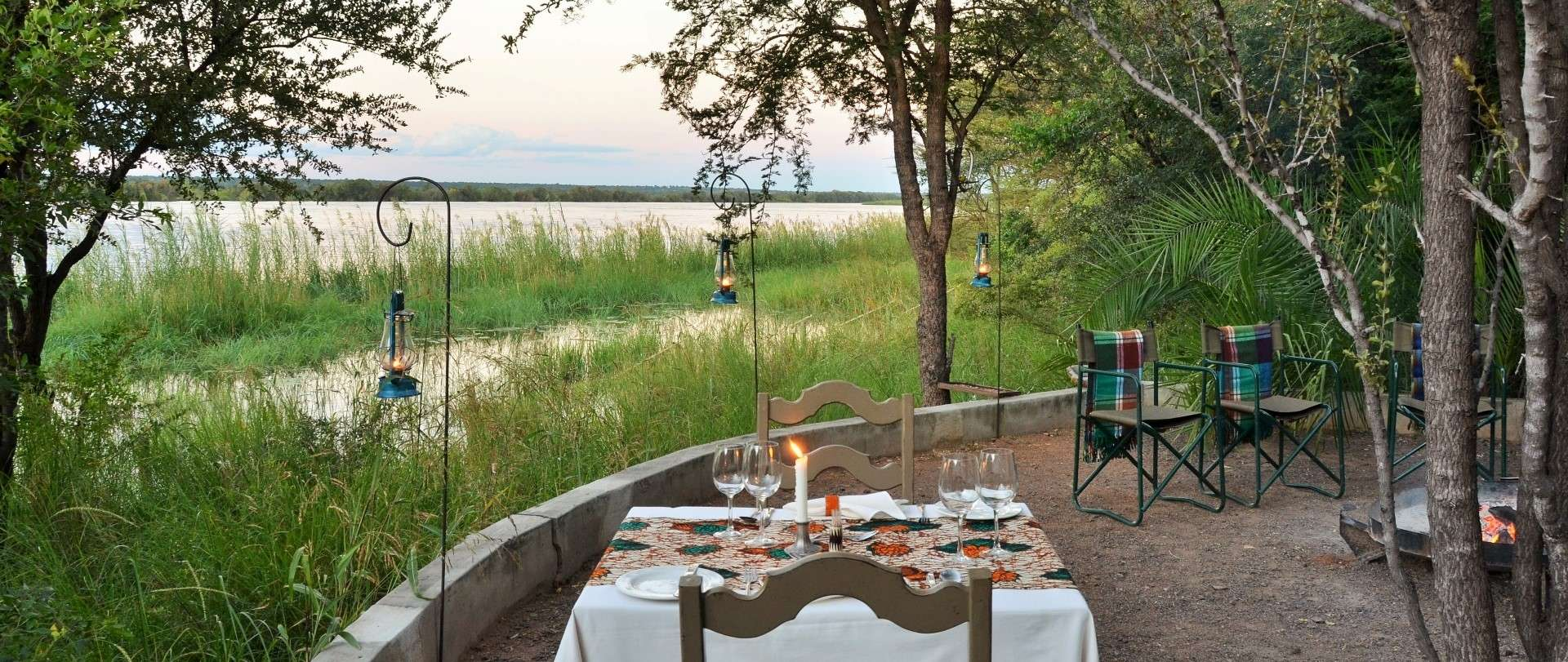 The high water boma at Chobe Bakwena Lodge