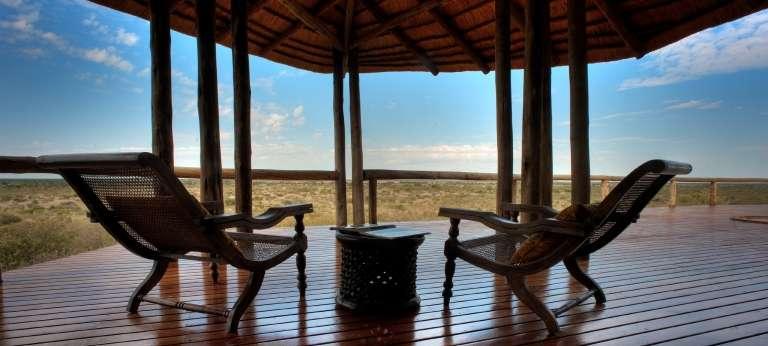 Tau Pan Patio in Central Kalahari, Botswana