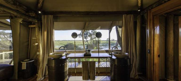 Little Mombo Camp Bathroom, Botswana