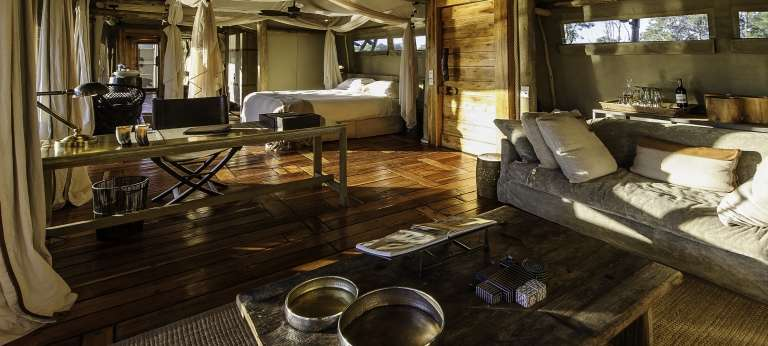 Little Mombo Camp Bedroom Interior in Botswana