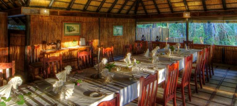 Camp Okavango Dining Area, Botswana