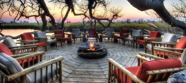 Campfire at Xakanaxa Camp in Okavango Delta, Botswana