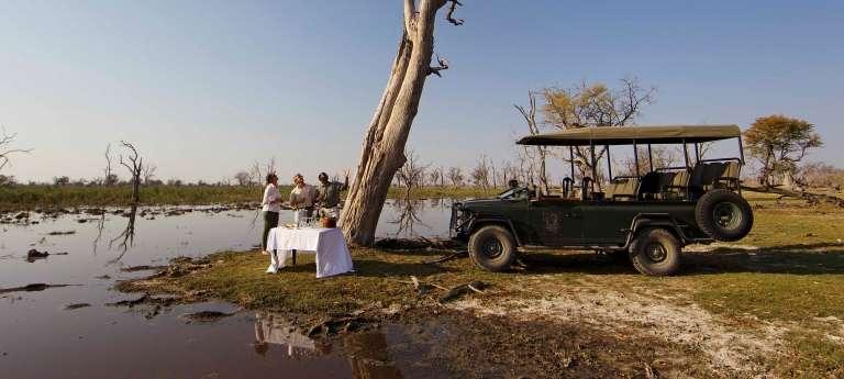 Outside Dinning in Okavango Delta, Botswana