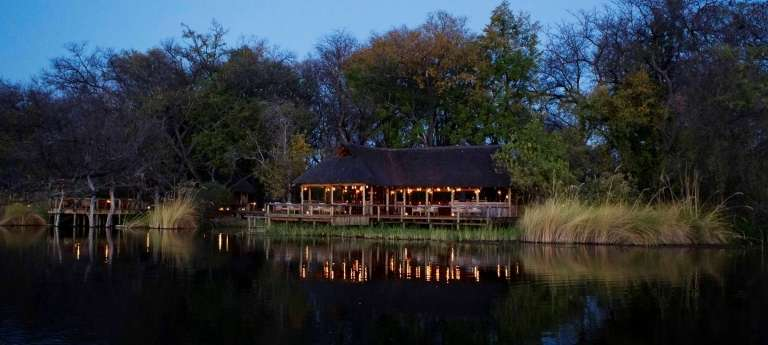 Xakanaxa Camp at Night in Okavango Delta