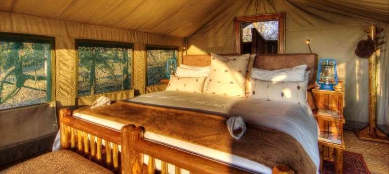 Bedroom at Xakanaxa Camp in Okavango Delta, Botswana