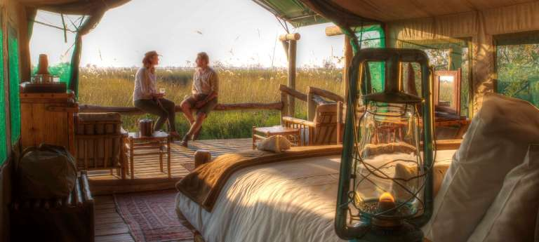 Xakanaxa Camp Guests in Okavango Delta