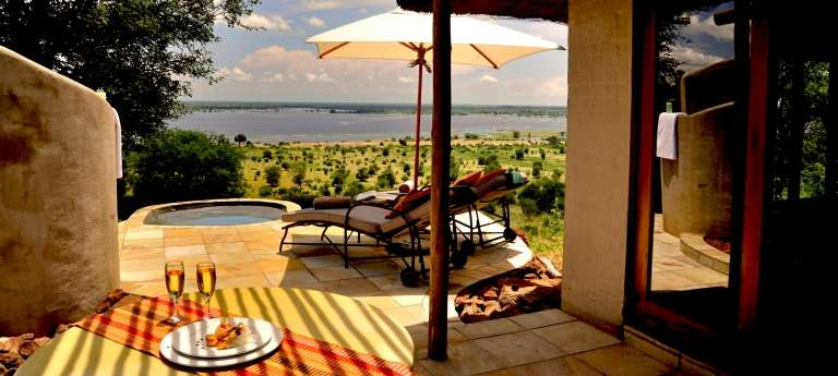 Ngoma Safari Lodge outside view, Accomodation, Botswana