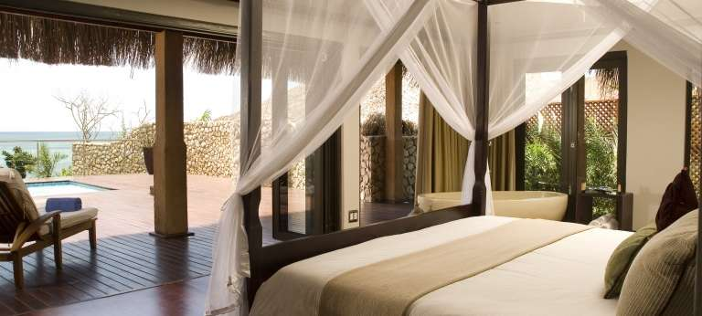 Main Bedroom and Deck at Anantara Bazaruto Island Resort and Spa in Mozambique