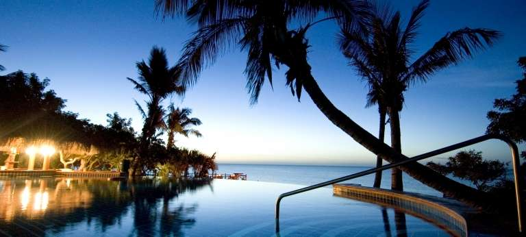Pool at Night, Anantara Bazaruto Island Resort and Spa in Mozambique