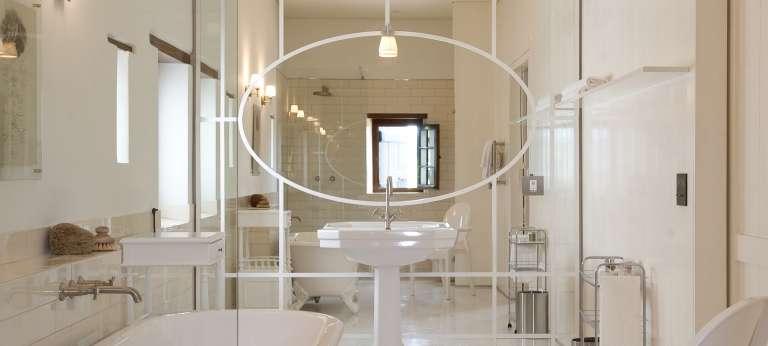 The bathroom view at Babylonstoren, Franschhoek, Accomodation