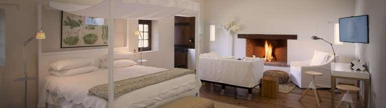 Hotel cottage view at Babylonstoren, Franschhoek, South Africa