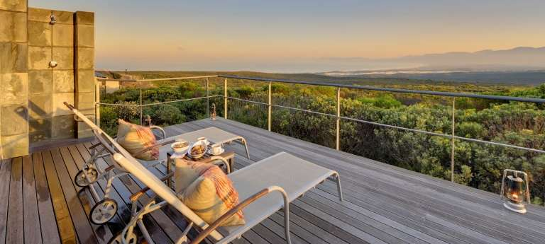 Outside Deck at Grootbos Private Nature Reserve in South Africa