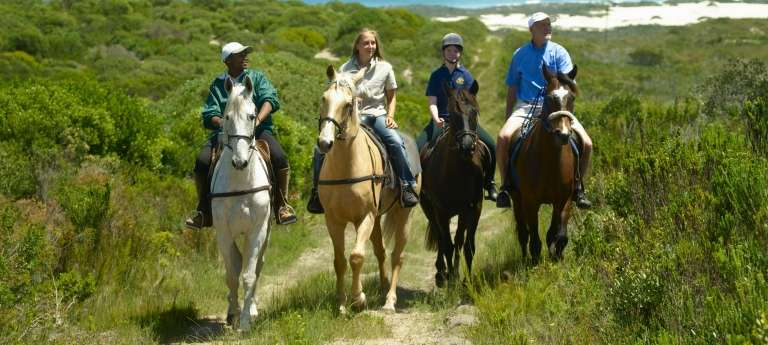 Guests Horse Riding at Grootbos Private Nature Reserve