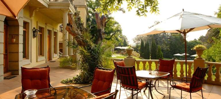 Premier Suite Patio at Fairlawns Boutique Hotel & Spa in Sandton, South Africa