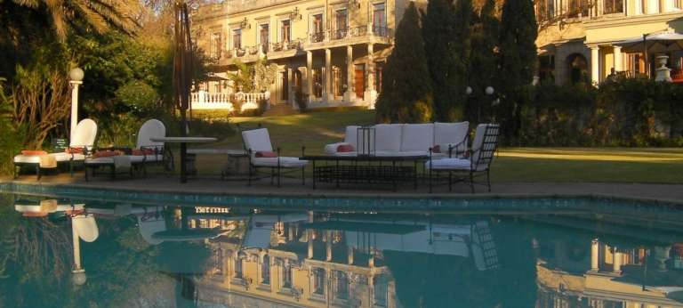 View of the Hotel from the Swimming Pool at Fairlawns Boutique Hotel & Spa