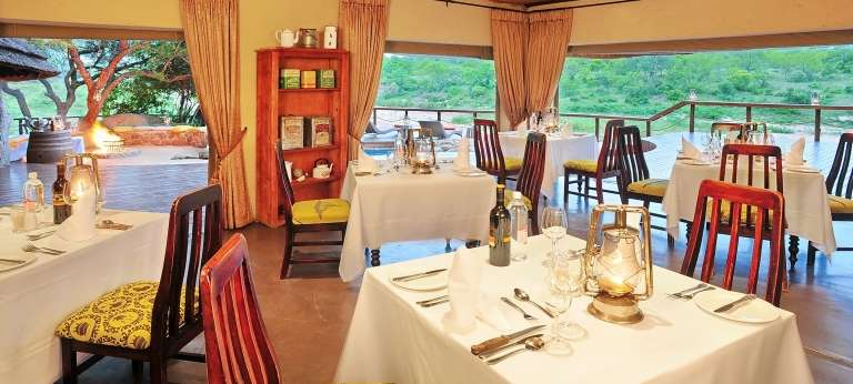 Dining at Jock Safari Lodge in Kruger National Park, South Africa