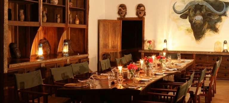 Semliki Safari Lodge Indoor Dining in Semliki, Uganda
