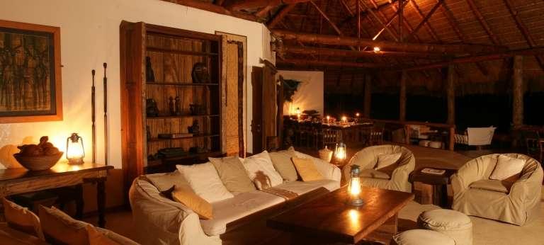 Lounge at Semliki Safari Lodge