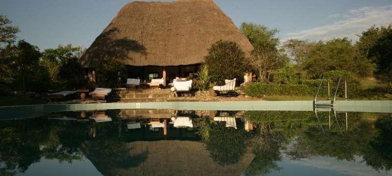 Semliki Safari Lodge Pool Area in Semliki, Uganda