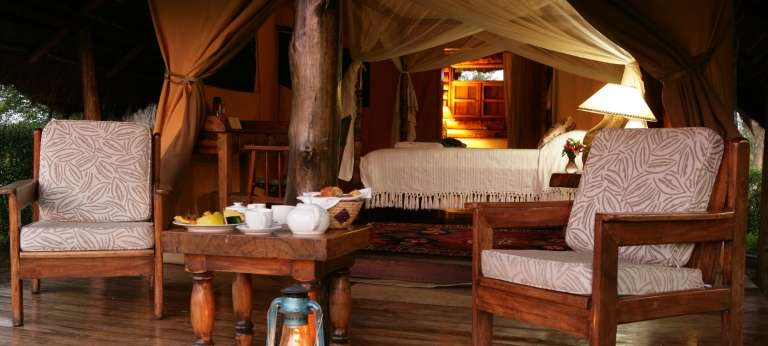 Interior of Semliki Safari Lodge in Uganda
