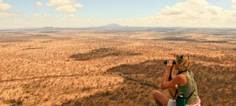 Wayo Green Camp Walking Safaris Guests viewing the Landscape in Serengeti National Park