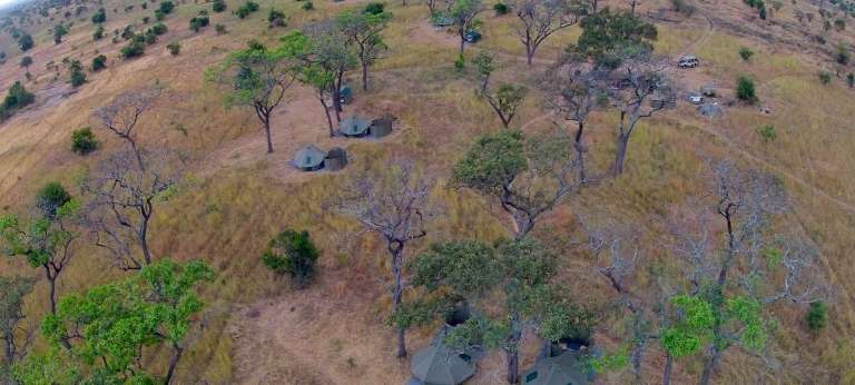 Aerial View of Wayo Green Camp Walking Safaris