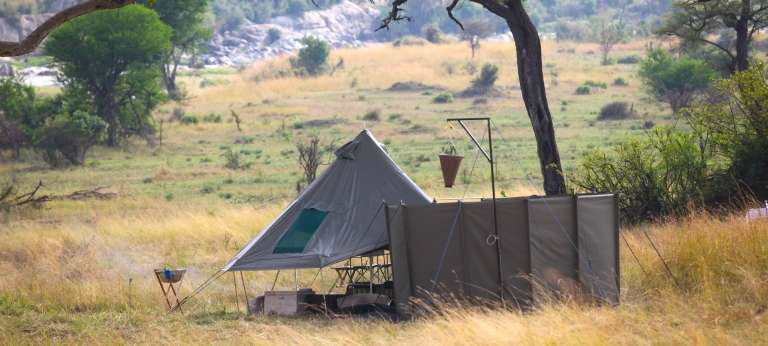 Wayo Green Camp Tent Exterior in Serengeti National Park, Tanzania