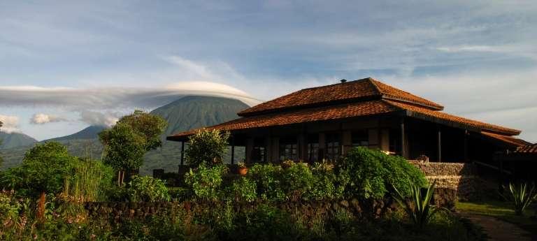 Virunga Lodge Exterior View in Volcanoes National Park, Rwanda