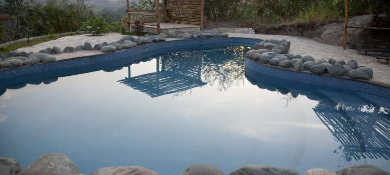 Swimming Pool at Volcanoes Kyambura Lodge