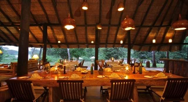 Dining Area at Ishasha Wilderness Camp, Uganda