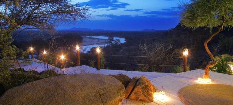 View from the deck at Sasaab, Kenya