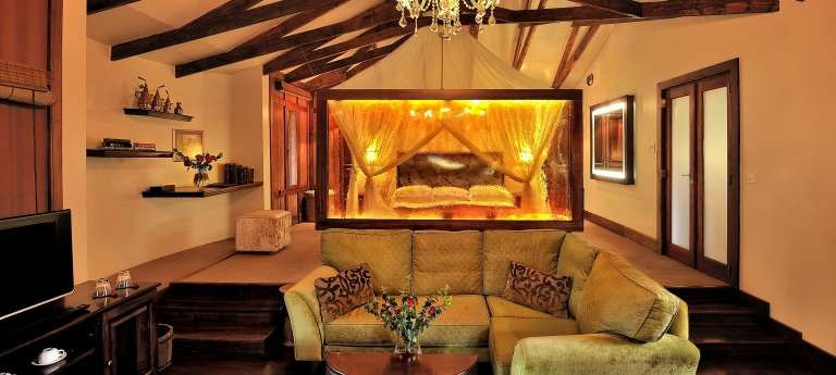 Lounge at Arusha Coffee Lodge, Tanzania
