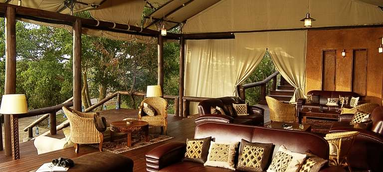 Migration Camp Lounge in Serengeti National Park
