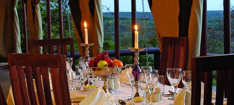 Migration Camp Restaurant in Serengeti National Park, Tanzania