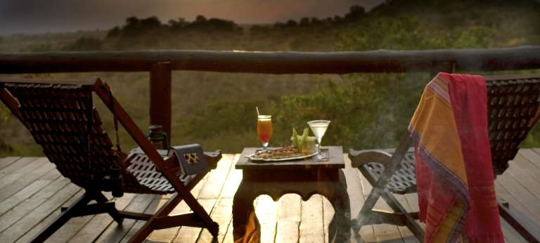 Sunset Deck at Migration Camp in Serengeti National Park