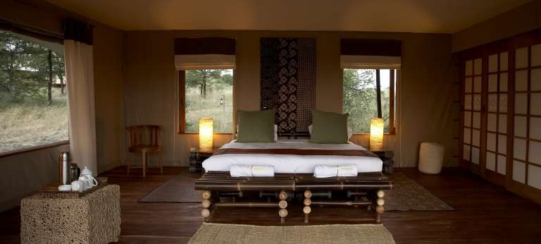 The bedroom view at Sayari Camp, Accomodation, Serengeti