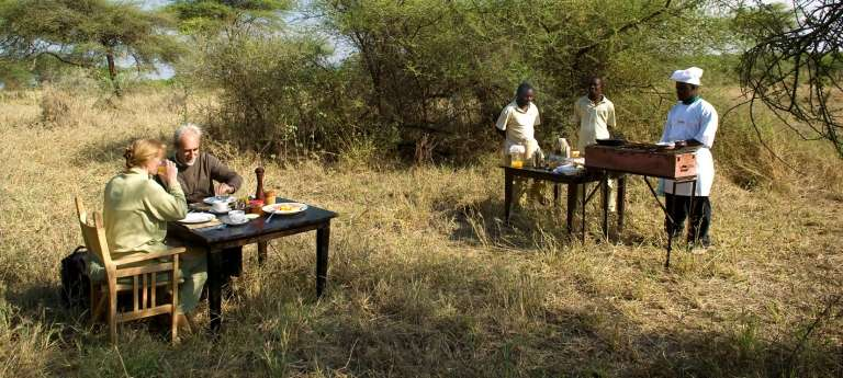 Breakfast in the bush at Olakira, Tanzania