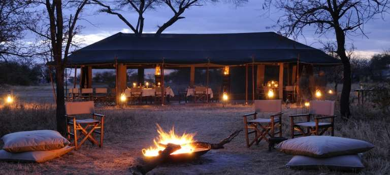 The dining area at Olakira, Tanzania