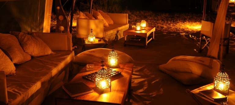 The lounge area at Olakira, Tanzania