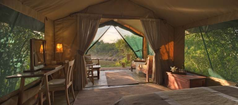 The tent view at Rekero Mara Camp, Accomodation, Kenya