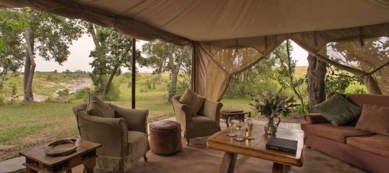 The lounge tent at Rekero Mara Camp, Accomodation, Kenya
